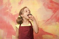 Niño en delantal del cocinero foto de archivo libre de regalías