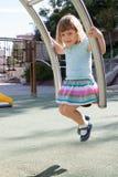 Niño en el área del patio Fotografía de archivo libre de regalías