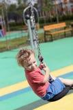 Niño en el cablecarril Fotos de archivo libres de regalías