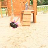 Niño en el cablecarril Foto de archivo libre de regalías