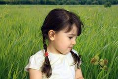 Niño en el campo foto de archivo