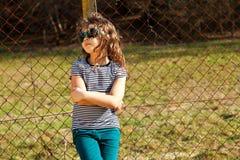 Niño en el campo Imagen de archivo libre de regalías