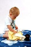 Niño en el estudio Foto de archivo libre de regalías