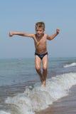 Niño en el movimiento Foto de archivo libre de regalías
