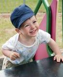 Niño en el patio Imágenes de archivo libres de regalías