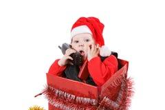 Niño en el rectángulo de la Navidad #6 fotos de archivo