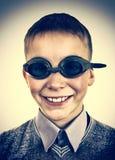 Niño en gafas de la natación Imagen de archivo libre de regalías