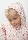Niño en impermeable Fotos de archivo