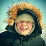 Niño en invierno Fotos de archivo libres de regalías