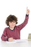 Niño en la escuela que pide el suelo Imágenes de archivo libres de regalías