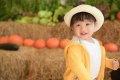Niño en la granja Foto de archivo