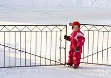 Niño en la puerta Imagen de archivo libre de regalías