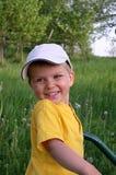 Niño en naturaleza Foto de archivo