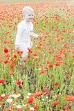 Niño en prado Fotografía de archivo libre de regalías