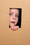 Niño en rectángulo Imagenes de archivo