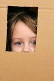 Niño en rectángulo Foto de archivo libre de regalías