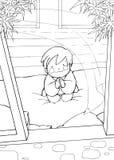 Niño en rezo Imagen de archivo libre de regalías