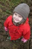 Niño en rojo Fotografía de archivo