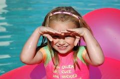 Niño en sol Fotografía de archivo libre de regalías