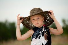 Niño en sombrero Fotografía de archivo