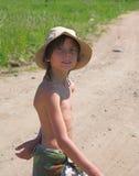 Niño en sombrero Imagenes de archivo