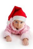 Niño en sombrero de la Navidad foto de archivo libre de regalías