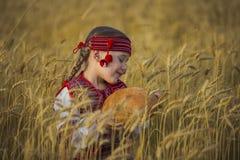 Niño en traje nacional ucraniano Imágenes de archivo libres de regalías