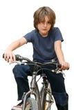 Niño en una bicicleta fotos de archivo libres de regalías