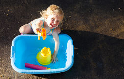 Niño en verano Fotografía de archivo
