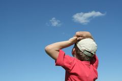 Niño en verano Fotos de archivo libres de regalías