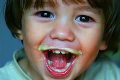 Niño encantado fotografía de archivo