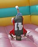 Niño encima de la cara abajo Foto de archivo