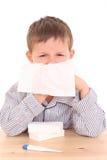 Niño enfermo Imágenes de archivo libres de regalías