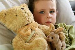 Niño enfermo Imagen de archivo