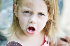 Niño enojado Imagen de archivo libre de regalías