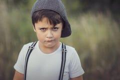 Niño enojado imágenes de archivo libres de regalías