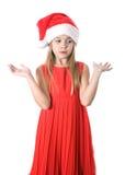 Niño enojado o trastornado o pre-adolescente aislado en el fondo blanco Fotos de archivo libres de regalías