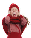 Niño enojado que grita hacia fuera ruidosamente Fotos de archivo libres de regalías