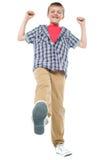 Niño entusiástico que se goza Foto de archivo libre de regalías