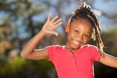 Niño feliz del afroamericano imagenes de archivo