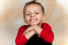 Niño feliz del día de fiesta Imagen de archivo libre de regalías