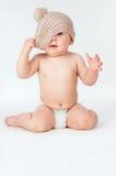 Niño feliz en el casquillo Imagen de archivo libre de regalías