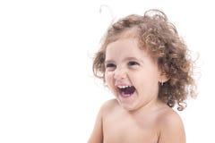 Niño femenino feliz Foto de archivo libre de regalías