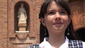 Niño femenino y cristianismo imagen de archivo