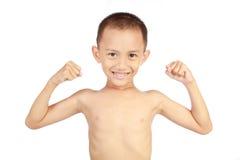 Niño fuerte foto de archivo