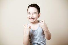 Niño furioso Foto de archivo