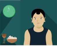 Niño gordo perezoso comer Imagen de archivo libre de regalías