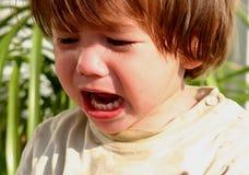 Niño gritador Fotografía de archivo