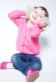 Niño hermoso en alegría Foto de archivo libre de regalías