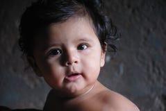 Niño indio de la muchacha Imagen de archivo